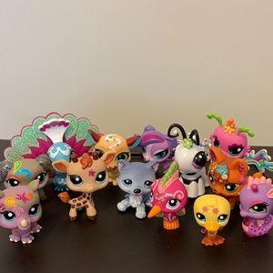 Littlest Pet Shop Toys Lot 13 Pieces Glitter LPS